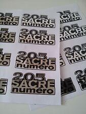 Sticker autocollant DOMING Résine 3D Monogramme Peugeot 205 Sacré Numéro
