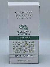 Crabtree & Evelyn Hand Cream Pear & Pink Magnolia Ultra Moisturizing NIB