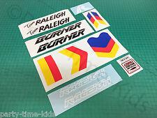Raleigh Team AERO PRO BRUCIATORE set di decalcomanie personalizzate Vecchia Scuola Bmx Adesivi