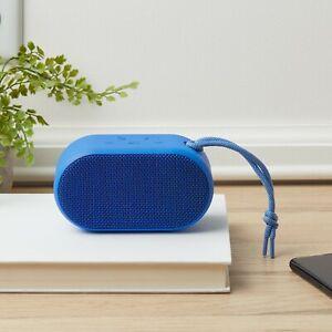 onn. Small Rugged Portable Bluetooth Speaker, Cobalt