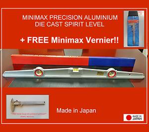 "Minimax precision die cast spirit level - 30"" (76.2cm) + **FREE VERNIER GAUGE**"