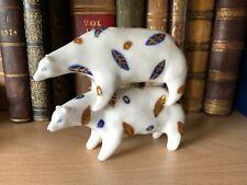 More details for anthropologie birdcanfox art studio pottery ceramic hand painted balancing bears