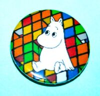 VINTAGE STYLE MOOMIN RUBIK'S CUBE BUTTON PIN BADGE