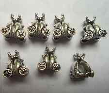 10 pcs Tibetan silver big hole Pumpkin car charms spacer bead 9x13 mm