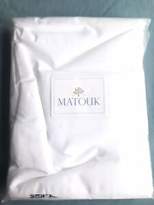 MATOUK Full/Queen Duvet Cover Aster Navy 100% Cotton