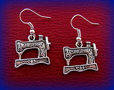 SINGER Sewing Machine Jewelry Earrings - Sewing QUILTING Featherweight style