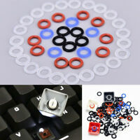 100x Silicone Rubber O-Ring Switch Dampeners For Keyboard Dampers Keycap blackDD
