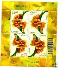 Latvia LETTLAND 2017 Flower - Freesia - Blume - Freesie MINI SHEET MNH