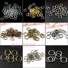 4mm,5mm,6mm,7mm,8mm,12mm,20mm Open Jump Rings Connectors R5017-Wholesale