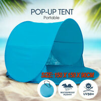 Pop Up Camping Beach Tent Portable Hiking Sun Shade Shelter Fishing AU STOCK