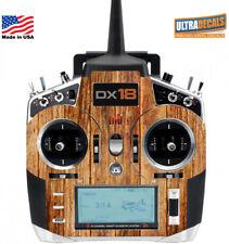 Wood Color Spektrum DX18 Transmitter Skin Wrap Decal Transmitter Controller R...