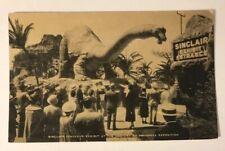 Chicago Illinois Postcard 1934 Sinclair Dinosaur Exhibit Century Progress Expo