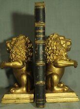 rare antique old book black leather 1847 James  Margaret Graham The Convict