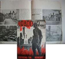"""WW2 FRANCE - Journal """" ORADOUR SUR GLANE"""" SOUVIENS-TOI  REMEMBER"""