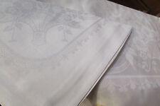 belle nappe + 12 serviettes sm b venise metis blanc jacquard francais damassé