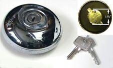 Oldtimer verchromt Verriegelung Benzin / Benzin Kappe mit Schlüssel AKF1439