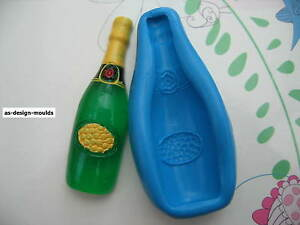Champagne/Wine Bottle Silicone Mould/Mold Sugar Craft, Wedding & Cake Toppers