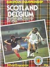 SCOTLAND v BELGIUM 1979 HAMPDEN PARK 1979 VGC