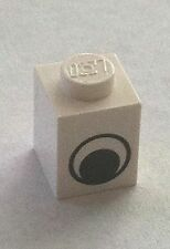 *NEW* 50 Pieces Lego BRICK 1x1 WHITE with EYE PATTERN