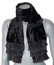 ECHARPE de créateur pour femme taille unique noir uni foulard étole cheche neuve