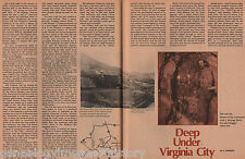 Deep Under Virginia City, Nevada - Baldwin,Bowers,Comstock,Deidensheimer,Grosh