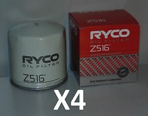 Z516 RYCO Oil Filter X4 BULK PACK for Ford Falcon FPV Escape Territory Mustang