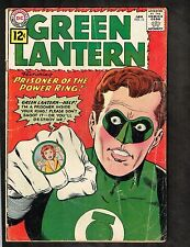 "Green Lantern #10 ~ ""Prisoner of the Power Ring!"" ~1962 (3.0) WH"