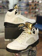 Air Jordan 5 V Retro Gold Medal Coin Olympic 136027-133 Men's Size 13