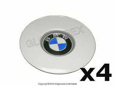 BMW E32 E34 735i 525i Wheel Center Hub Caps Emblems (4) GENUINE OEM