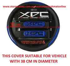 XDC BLACK AND BLUE STEERING WHEEL COVER FIT MAZDA TOYOTA RAV4,KLUGER,PRADO
