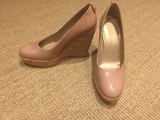Stuart Weitzman For Russell And Bromley Cream Wedges UK Size 3.5, 5.5 USA, 36.5