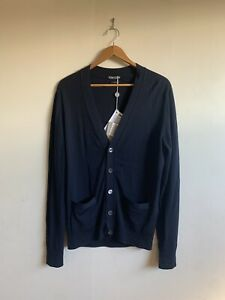 Tom Ford Navy Cardigan size 48 Navy 100% Wool New