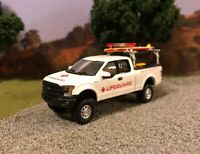 2015 Ford F-150 Custom Lifted 4x4 Farm Truck 1/64 Diecast 4WD Lifeguard Rescue