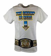 John Cena The Champ Is Here Title Belt Mens White T-shirt