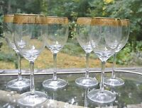 Set of 6 Wine Goblets Made in Holland Decorated in Italy
