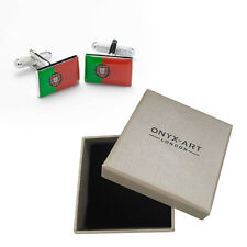 Mens Portuguese Flag Country Cufflinks & Gift Box By Onyx Art - Portugal