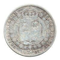 KM# 764 - Half Crown - 2&1/2 Shillings - Victoria - Great Britain 1887 (Fair)