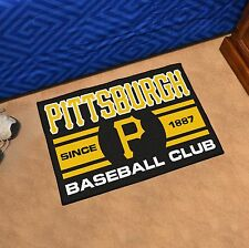 "Pittsburgh Pirates Uniform Inspired 19"" X 30"" Starter Area Rug Floor Mat"