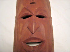 Vintage Wood Carved Mask Tribal/Hawiian/African Wall Hanging