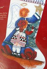 Christmas Stocking Cross Stitch Kit Alma Lynne Heavenly Helper Angel Girl NIP