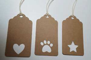 Gift Tags Present Tag Star Heart Paw Print Dog Lover Cat Lover Wrapping Supplies