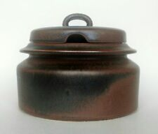 vtg Ulla Procope ARABIA Finland Ruska stoneware dinnerware casserole w/ lid 2 qt