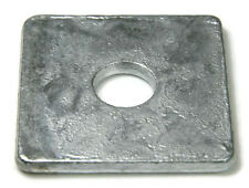 "Square Washer Hot Dip Galvanized - 5/8"" ID 11/16, OD 2, THK 0.125 - Qty-25"