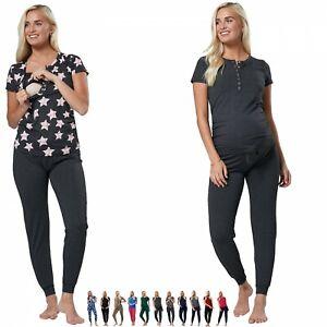 Zeta Ville Women's Maternity Loungewear Nursing Pyjamas Underbump Pants 1032