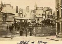 France Paris Hôtel de Cluny  Vintage Albumen Print Tirage albuminé  11x16