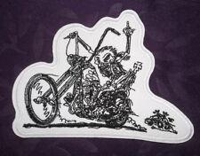 PHANTOM RIDER PATCH  HARLEY HELL'S ANGELS BIKER SKULL SKELETON DIY SEW OR IRON