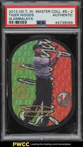 2013 Upper Deck Master Collection Slambalaya Tiger Woods #S-2 PSA AUTH