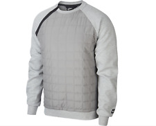 NIKE TECH PACK QUILTED CREW SWEATSHIRT TOP BV3697 063 GREY Mens Size S-XXL