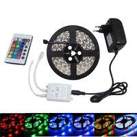 5M RGB Led strip Light 3528 SMD 300leds Waterproof Remote Controller 12V Adapter