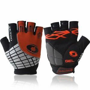 Cycling Gloves Reflective Half Finger Shockproof MTB Road Bike Glove Anti-slip